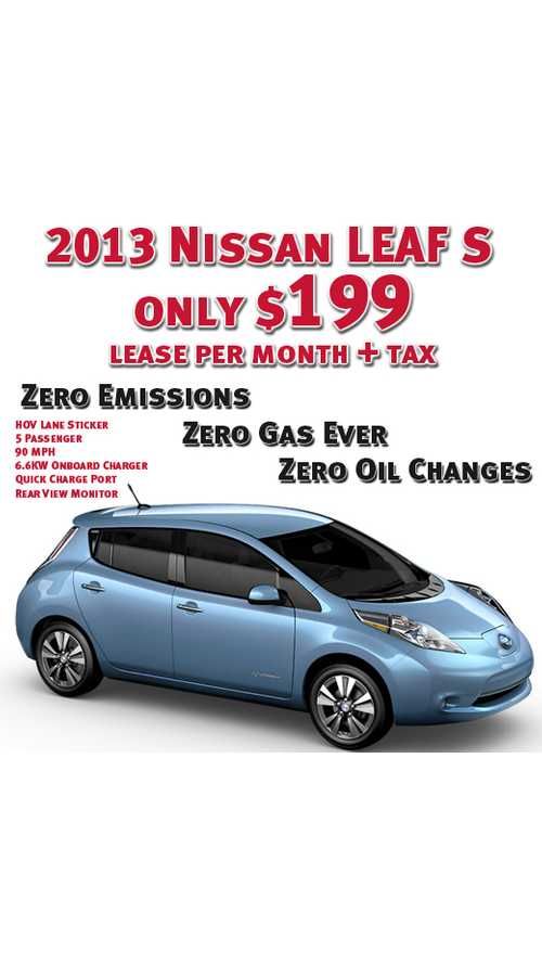 One More Look at Why Leasing is the Way to Go With Today's Plug-In Vehicles