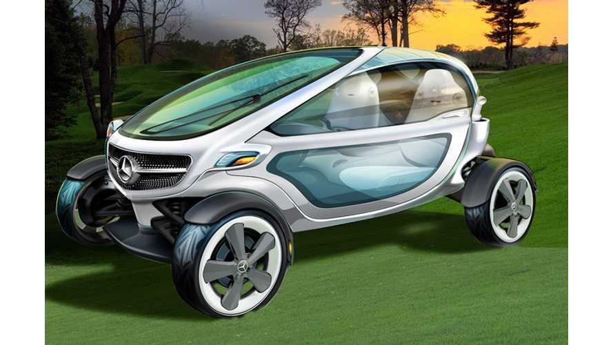 Mercedes-Benz Unveils Electric Vision Golf Cart