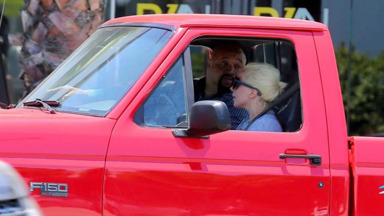 Lady Gaga driving Ford SVT Lightning