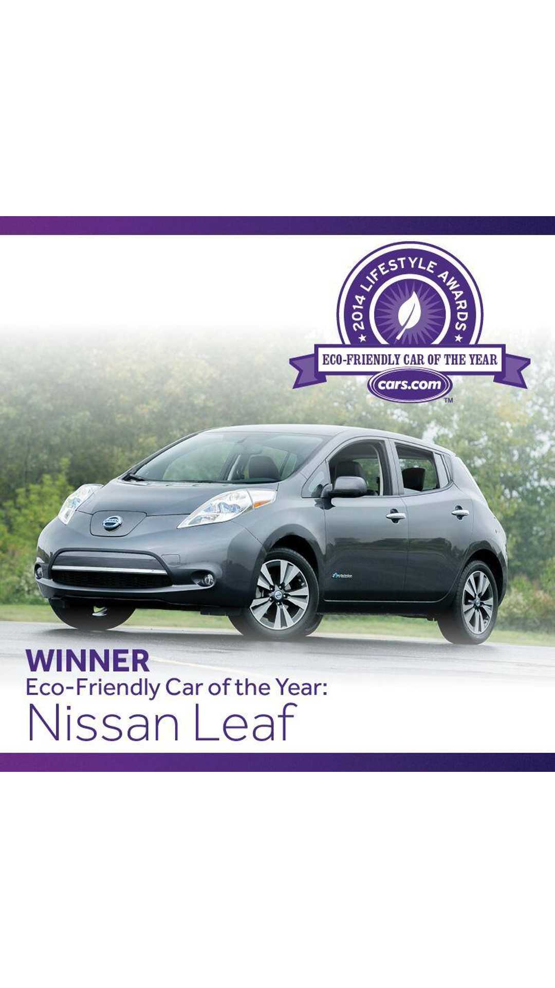 Nissan Leaf Beats Chevy Volt To Win Cars Eco Friendly Car Of The Year Award