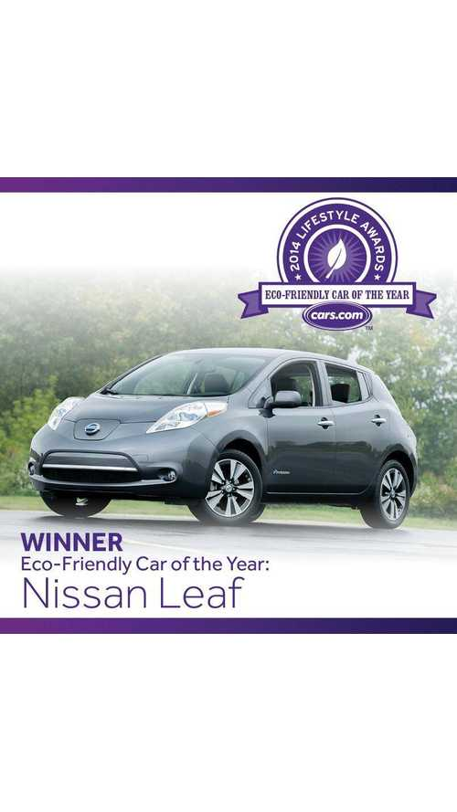 Nissan LEAF Beats Chevy Volt to Win Cars.com Eco-Friendly Car of the Year Award