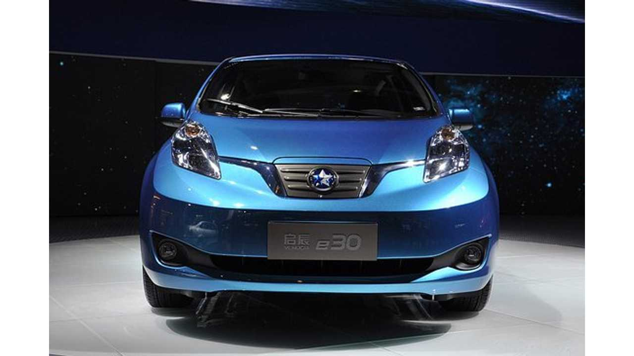 Venucia e30 (aka Nissan LEAF) - Dongfeng-Nissan has green-lit a production run of  1,000 Venucia branded EVs, which are essentially re-badged Nissan LEAFs