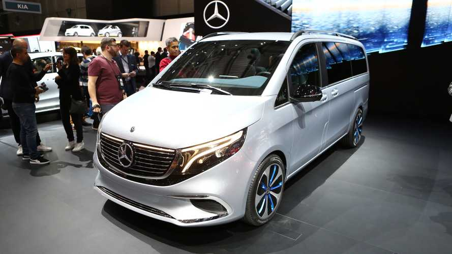 Mercedes EQV concept at the 2019 Geneva Motor Show
