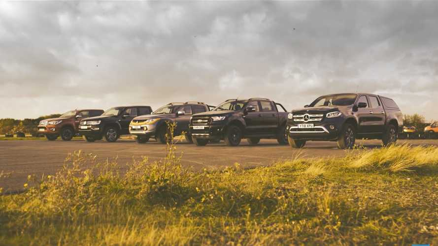 Mega Diesel Truck Drag Race: X-Class, Ranger, L200, Amarok, Hilux