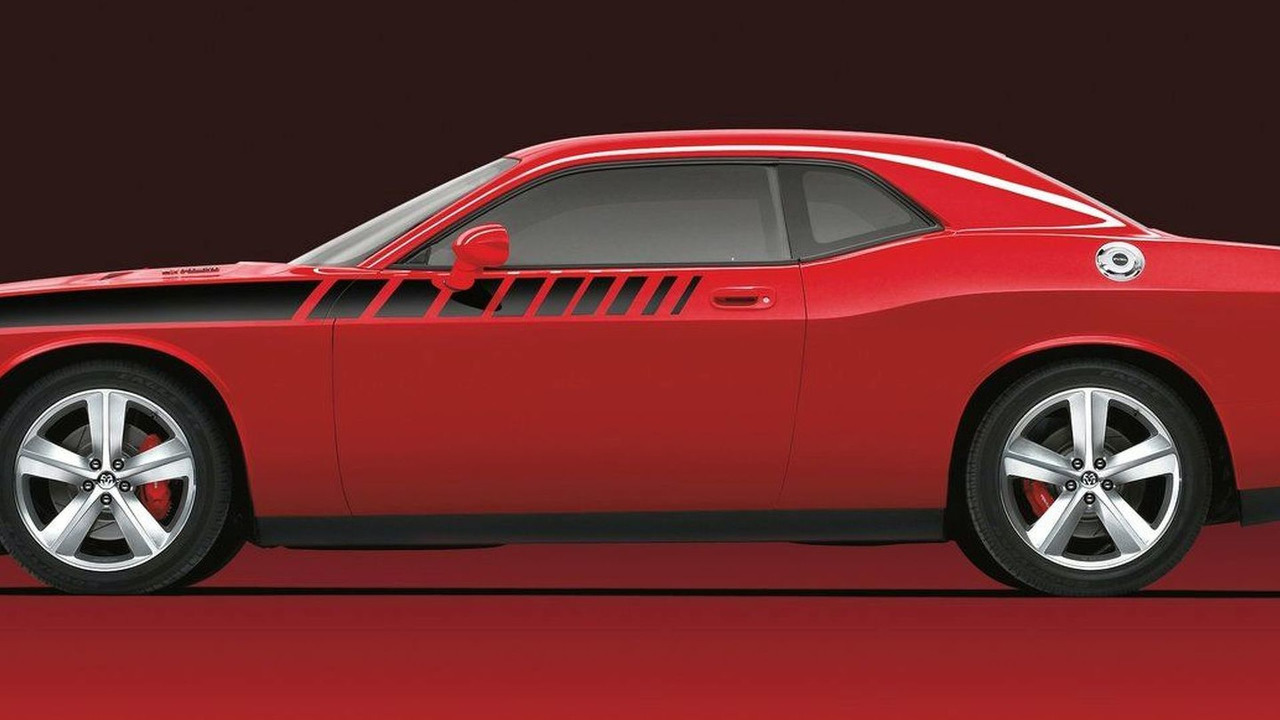 Dodge Challenger with Mopar 20-inch Heritage Wheels and Body Decal Kit
