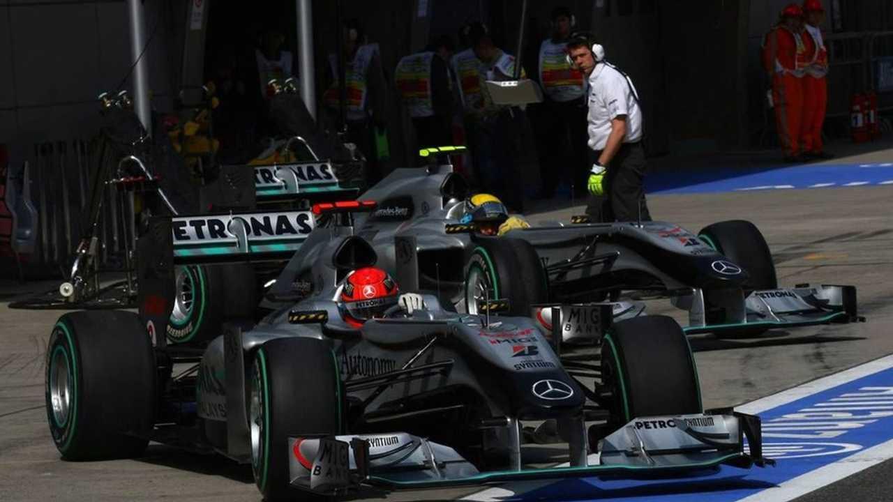 Michael Schumacher (GER), Nico Rosberg (GER), Mercedes GP Petronas, Chinese Grand Prix, 17.04.2010 Shanghai, China