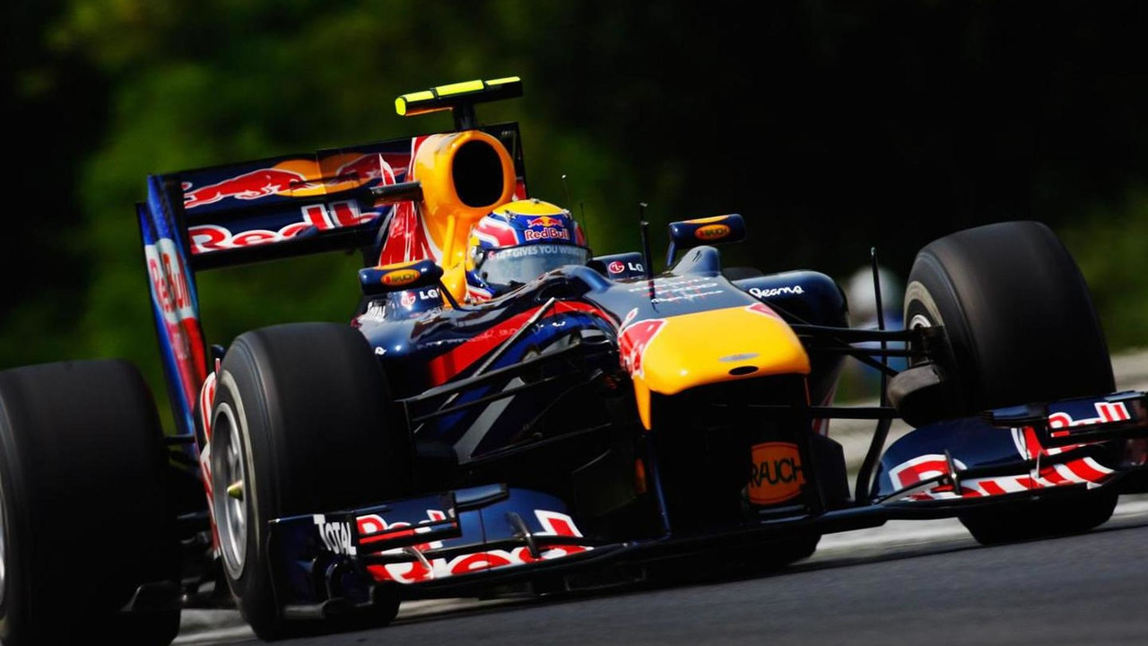 Mark Webber of Australia and Red Bull Racing drives during the final practice session prior to qualifying for the Hungarian Formula One Grand Prix at the Hungaroring on July 31, 2010 in Budapest, Hungary
