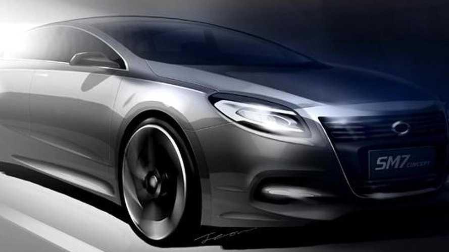 Renault Samsung SM7 Concept teaser sketch released