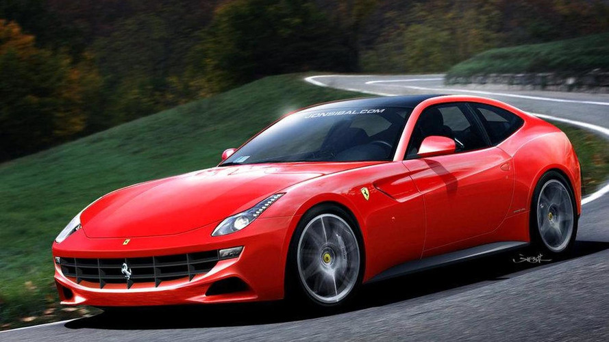 Ferrari 612 Shooting Brake interior spied plus new rendering