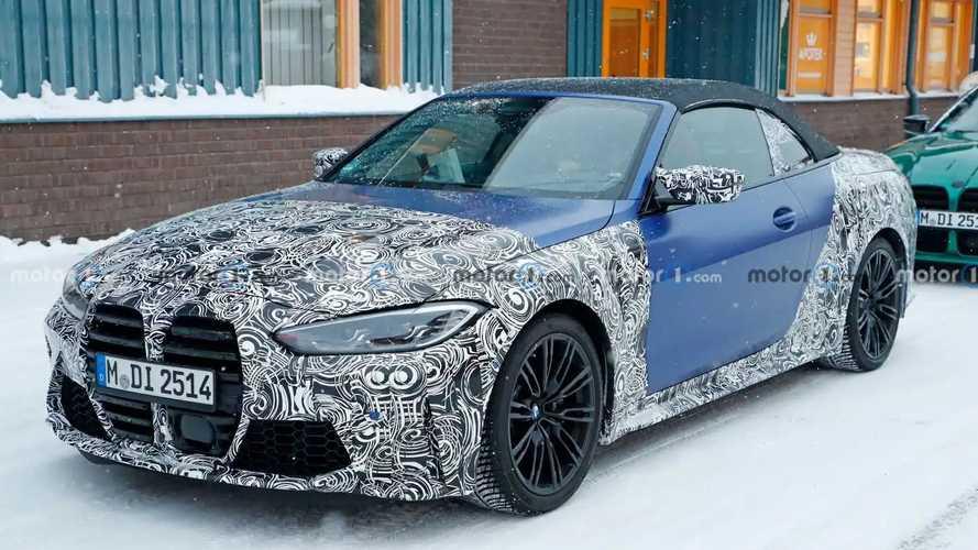 BMW M4 Cabriolet (2021) auf neuen Erlkönigbildern