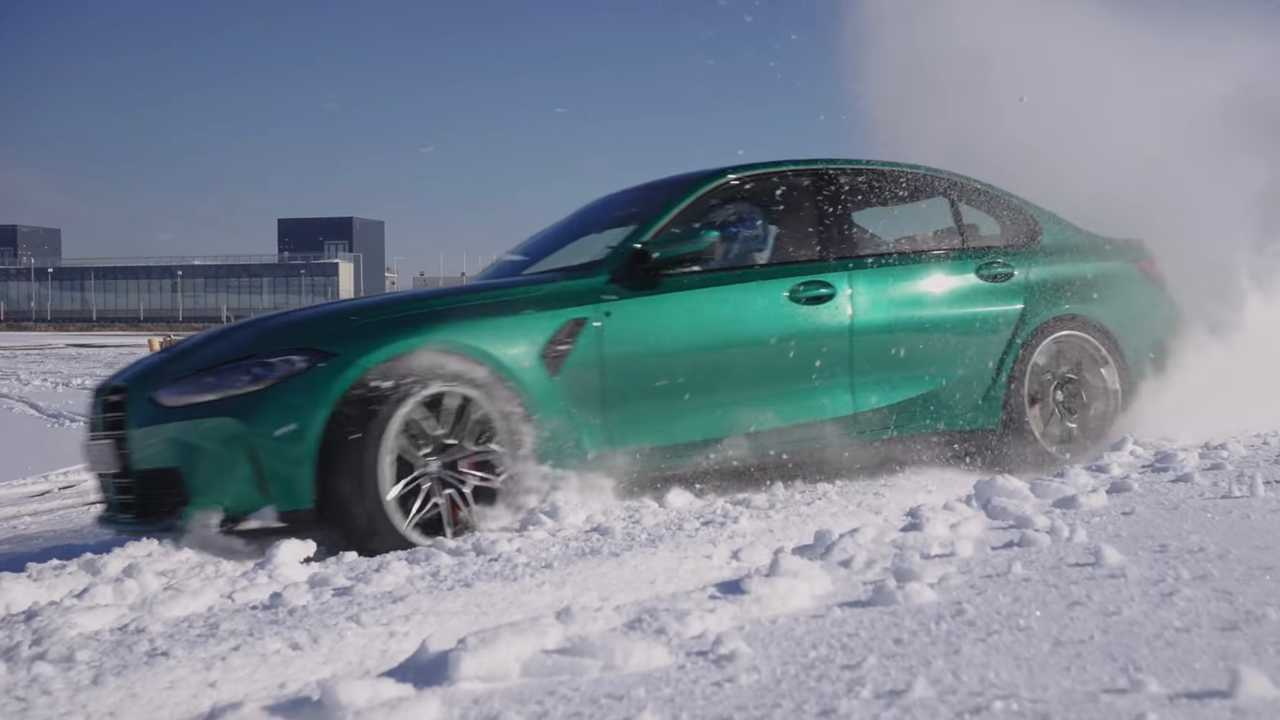 2021 BMW M3 Snow-Covered Track