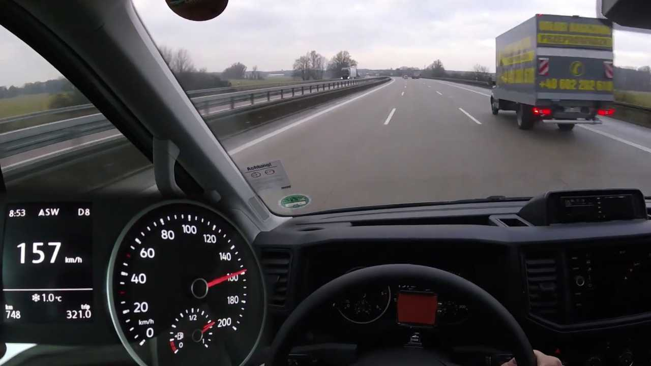 VW Crafter Top Speed Video