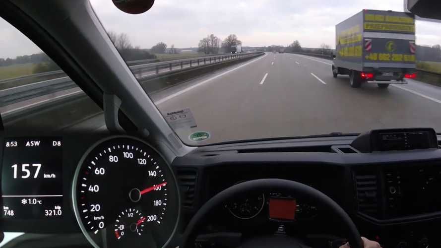 Diesel-Powered VW Crafter Cargo Van Hits Autobahn For Top Speed Run