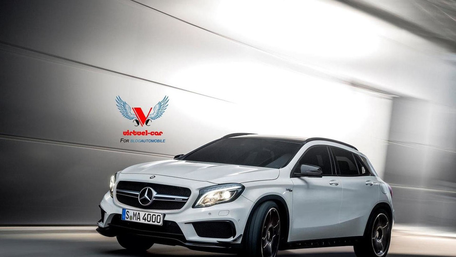 2014 Mercedes-Benz GLA 45 AMG rendered in production guise