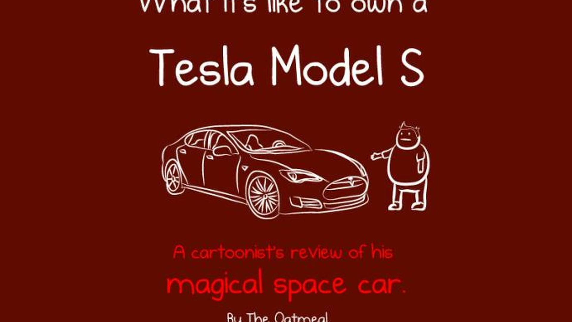 Cartoon Review What Its Like To Own A Tesla Model S
