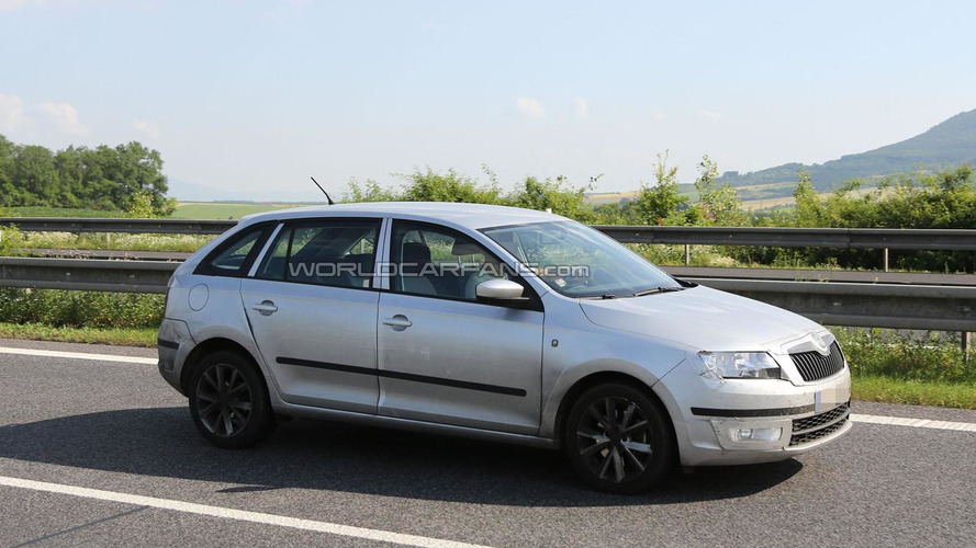 2014 Skoda Rapid Spaceback spied posing as a Fabia Combi