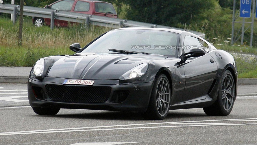 Ferrari 599 successor hits the track [video]