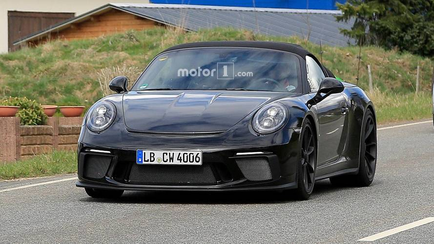 Photos espion - La Porsche 911 Speedster en cours d'essais