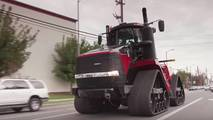 Case IH Quadtrac tractor driven by Jay Leno