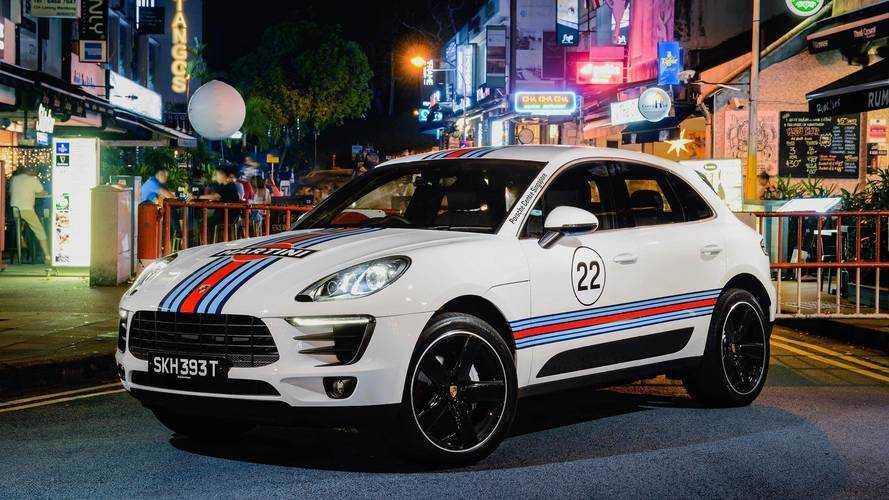 Versenyfényezéssel látta el öt Macan modelljét a Porsche