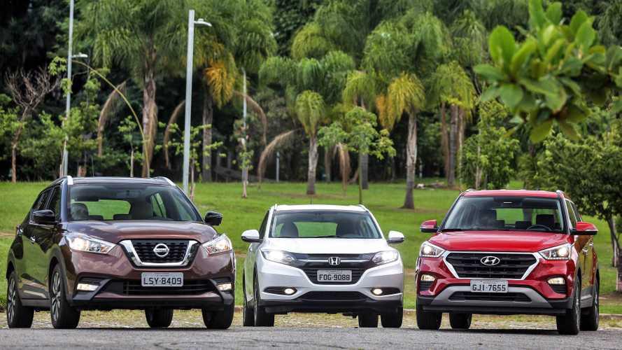 SUVs compactos mais vendidos em setembro: Creta, Kicks e HR-V emparelham na liderança