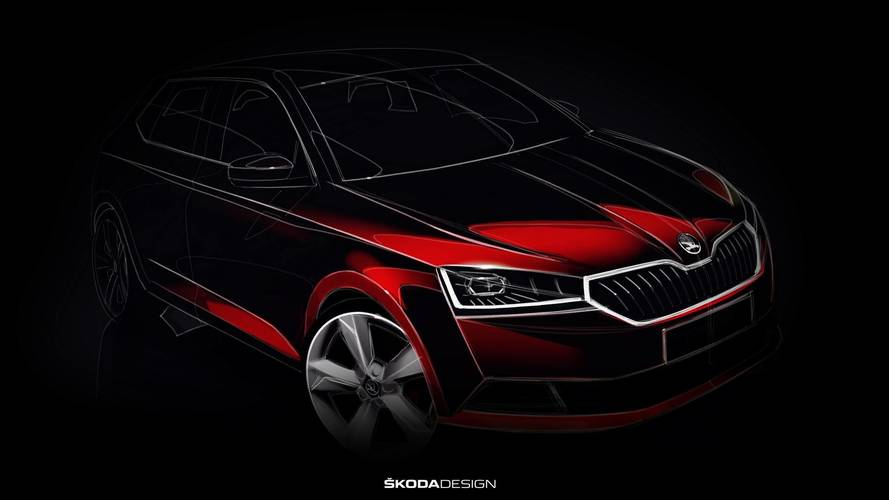 2018 Skoda Fabia Facelift Teased In Promising Design Sketch