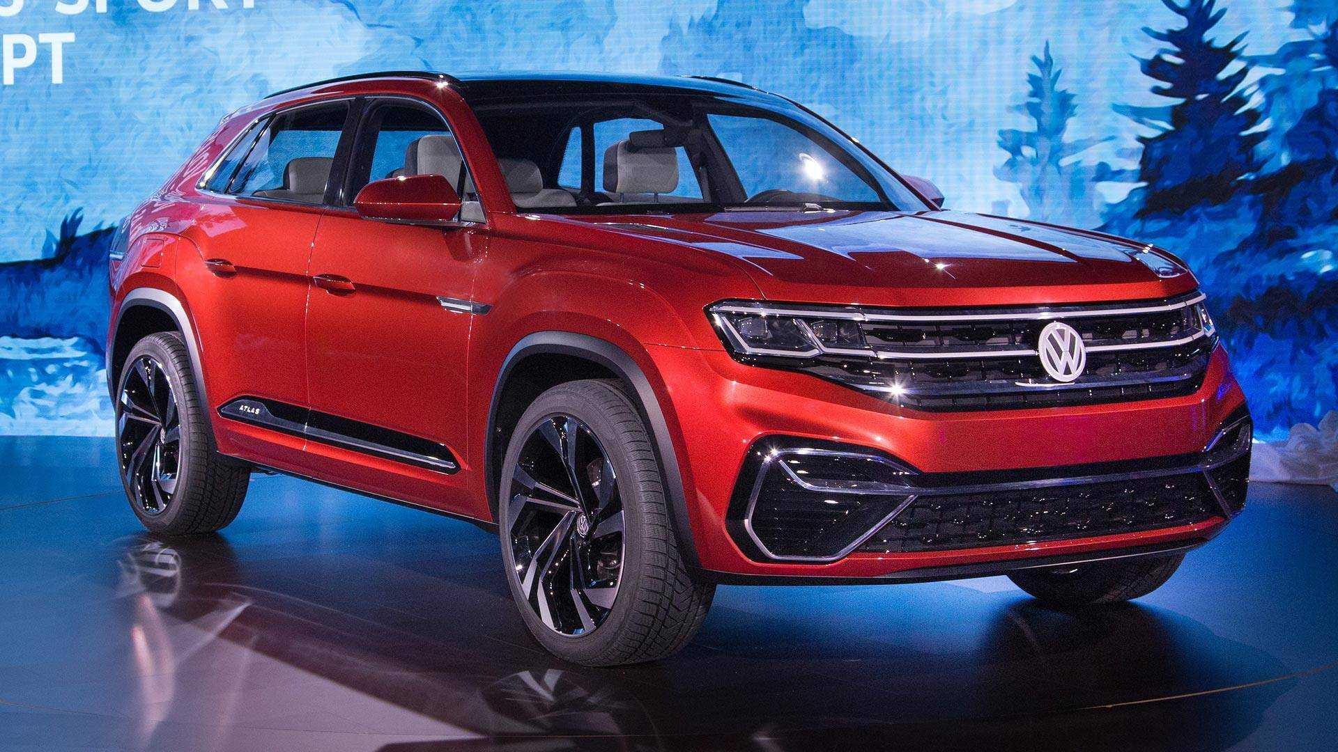 2018 VW Atlas R-Line: Styling, Interior, Arrival >> Volkswagen Atlas Cross Sport Concept Previews New Five Seat Suv