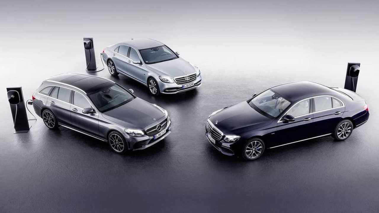 Mercedes C-Class, E-Class Diesel Plug-In Hybrids