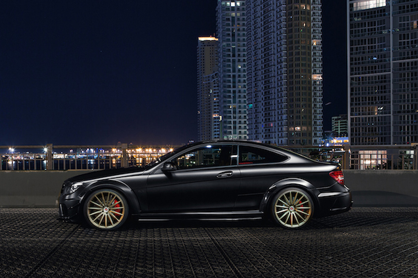 Vossen C63 AMG Black Series is the Very Definition of Menacing