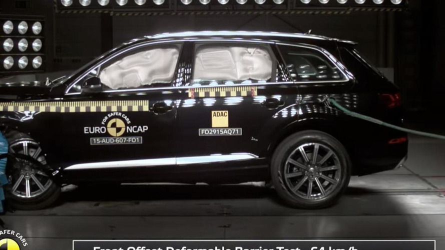 Audi Q7 and Volvo XC90 grab all five stars at Euro NCAP crash test [videos]