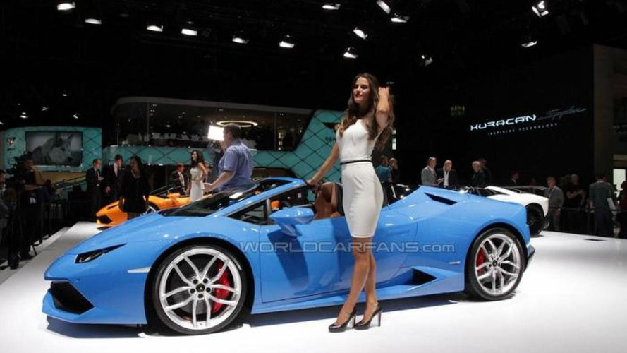Lamborghini Huracan Spyder drops its top in Frankfurt
