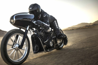 The Indian Black Bullet is a Retro Racer Built for Speed