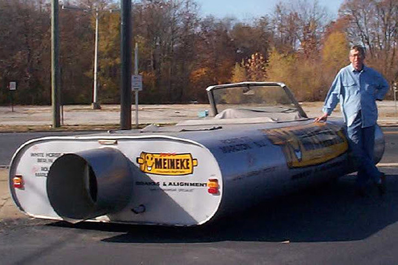 Meet the Car That's Shaped Like a Meineke Muffler