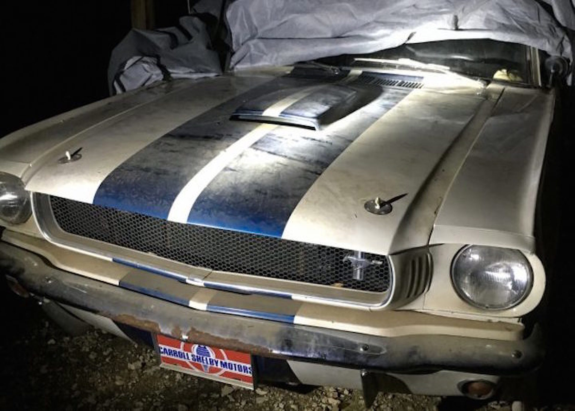 Son uncovers his fathers 1965 mustang shelby gt350 after 15 years in a barn