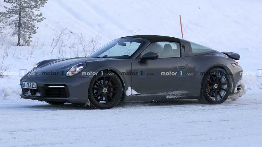 Porsche 911 Targa Spied In The Arctic With A Snowy Backside