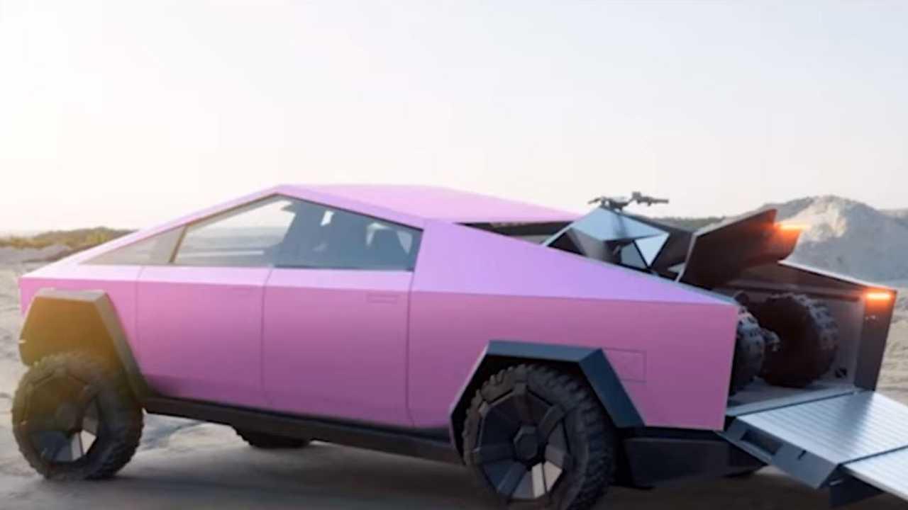 Цветные Tesla Cybertruck