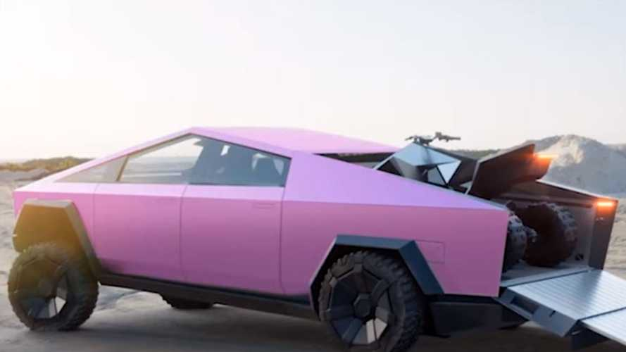 See The Tesla Cybertruck In Every Color Imaginable: Even Pink, Coral