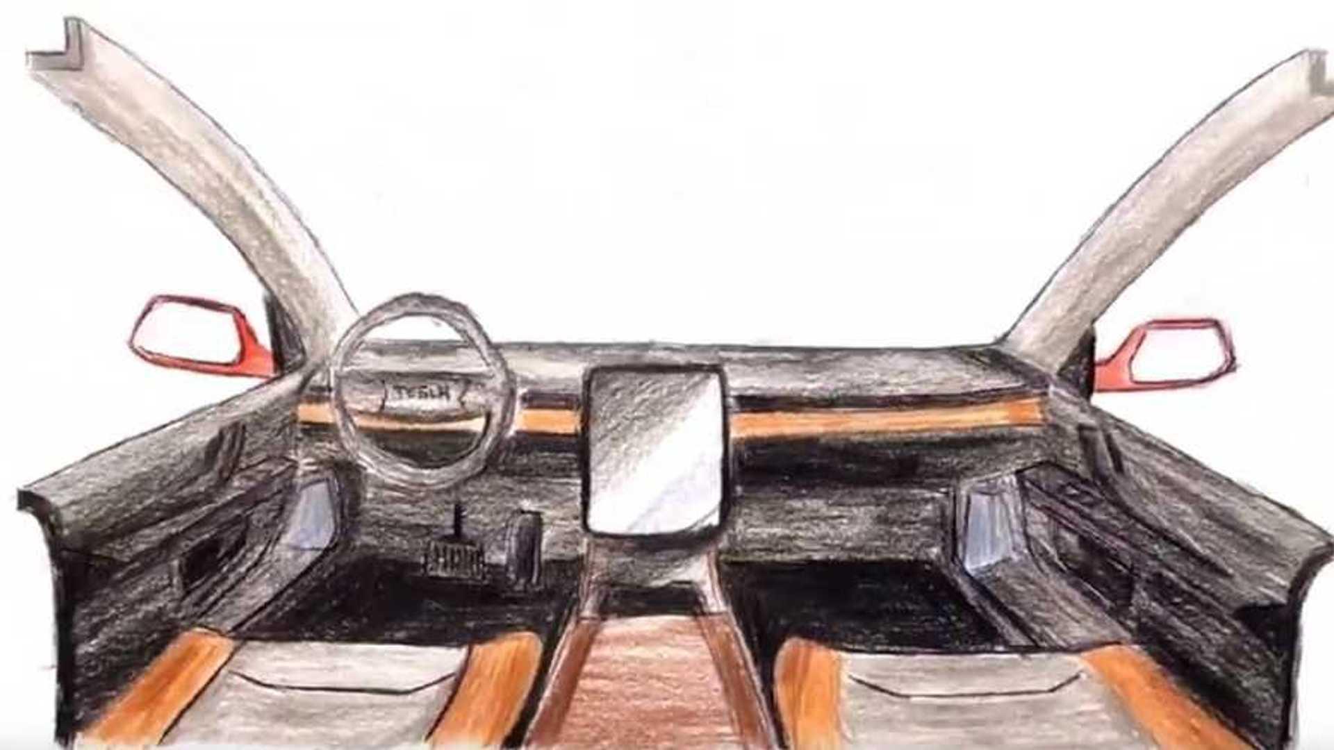 Tesla Pickup Truck Interior With Ram 1500 Styling Looks Striking