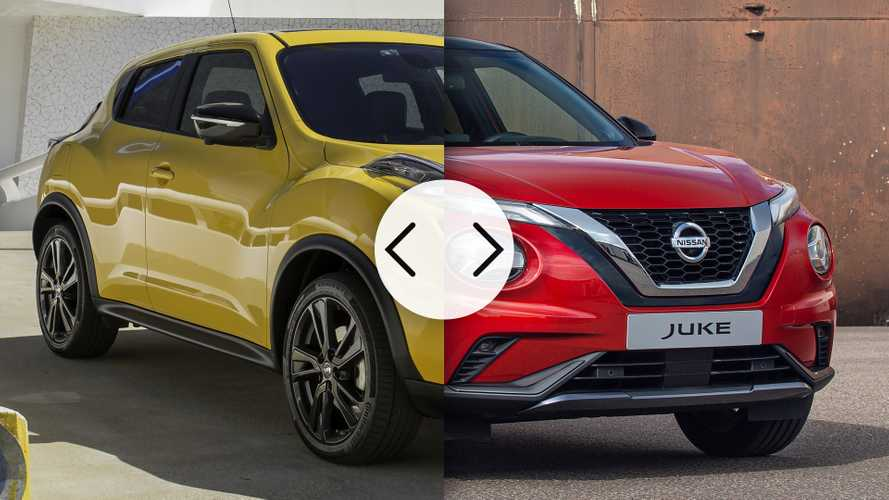 Nissan Juke, nuova e vecchia a confronto