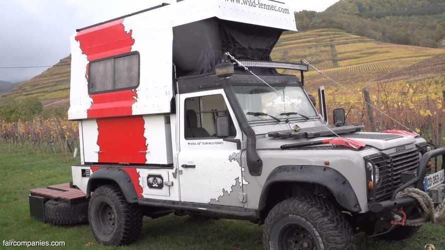 Alucina con este Land Rover Defender, convertido en un pequeño camper