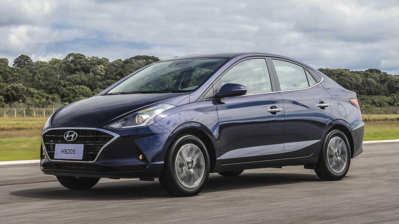 Novo Hyundai HB20S em movimento