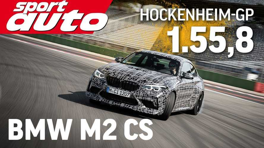 Watch BMW M2 CS lap Hockenheim while still wearing camouflage