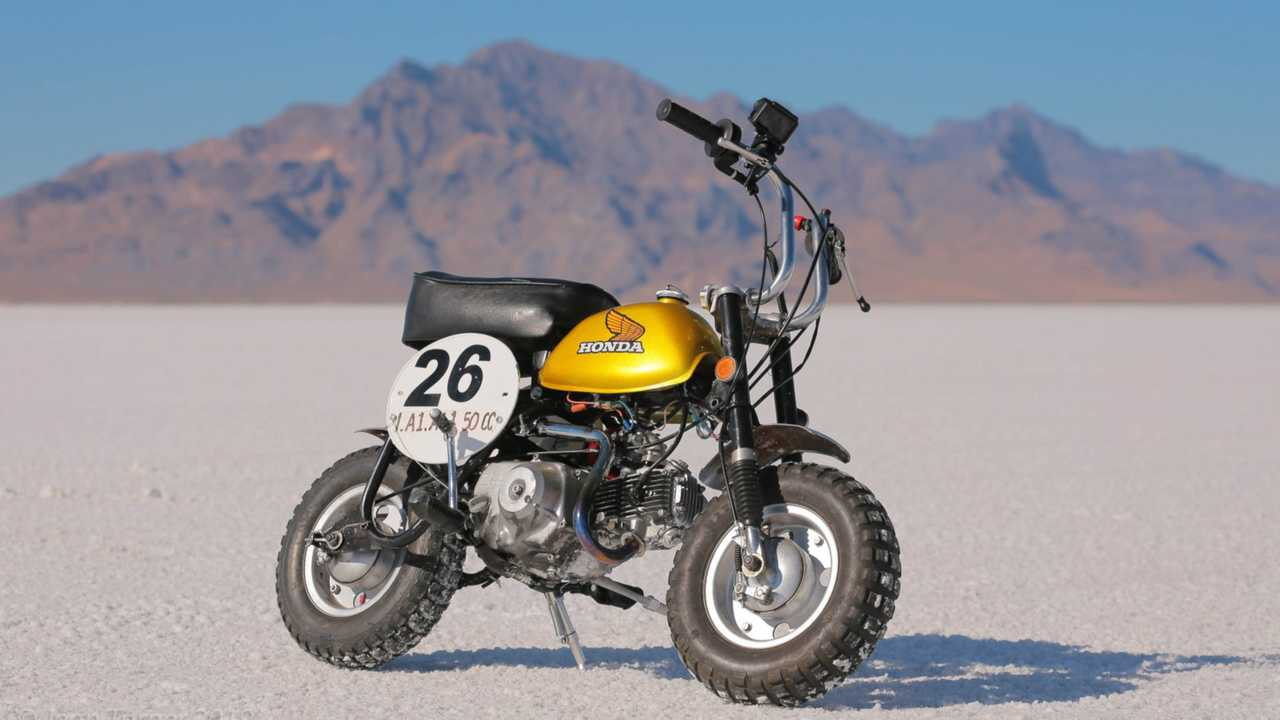 Honda Monkey Attempts Land Speed Record Bonneville 2019