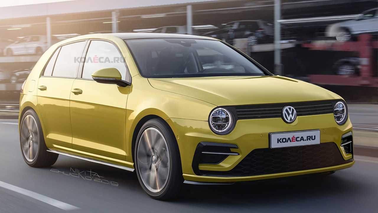 2020 vw golf rendered with retro cues from mk ii generation