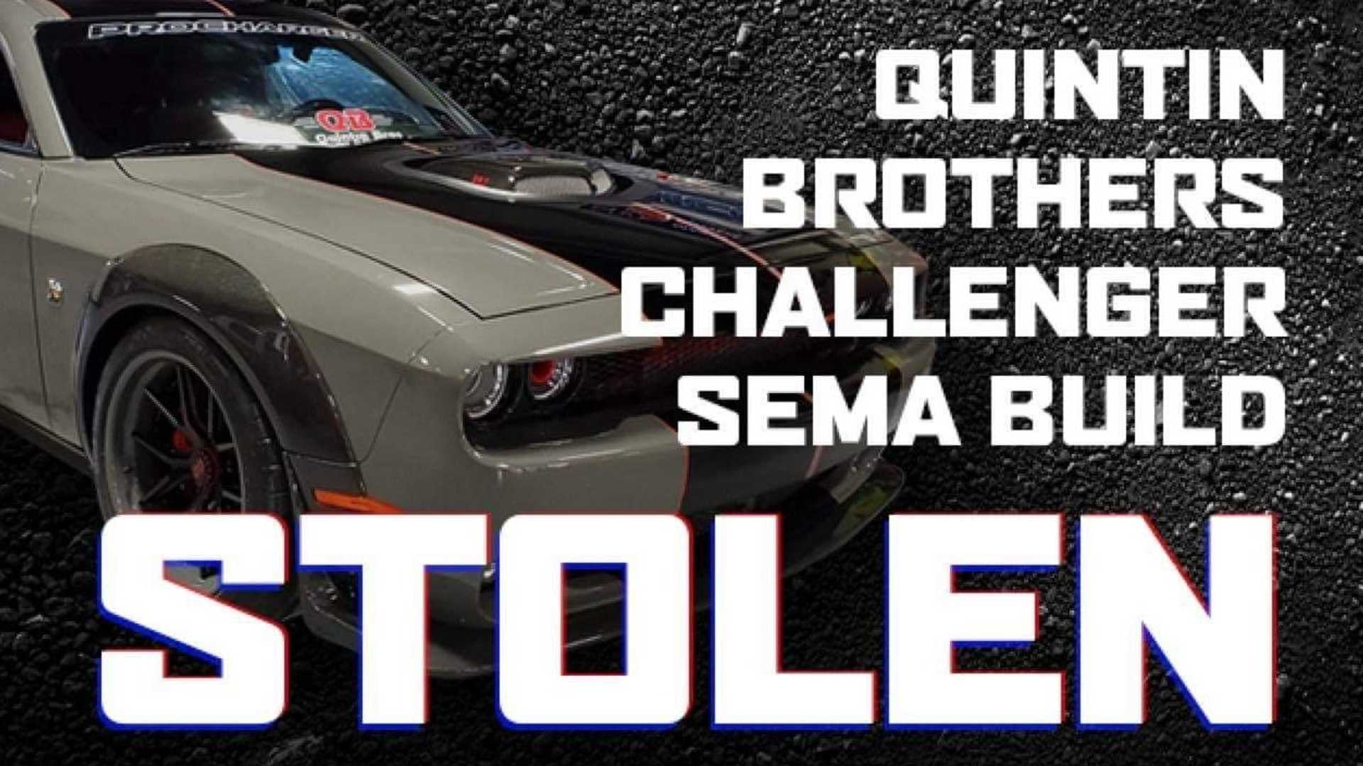 "[""ProCharger's SEMA Dodge Challenger Stolen, Taken On Police-Pursued Joyride""]"