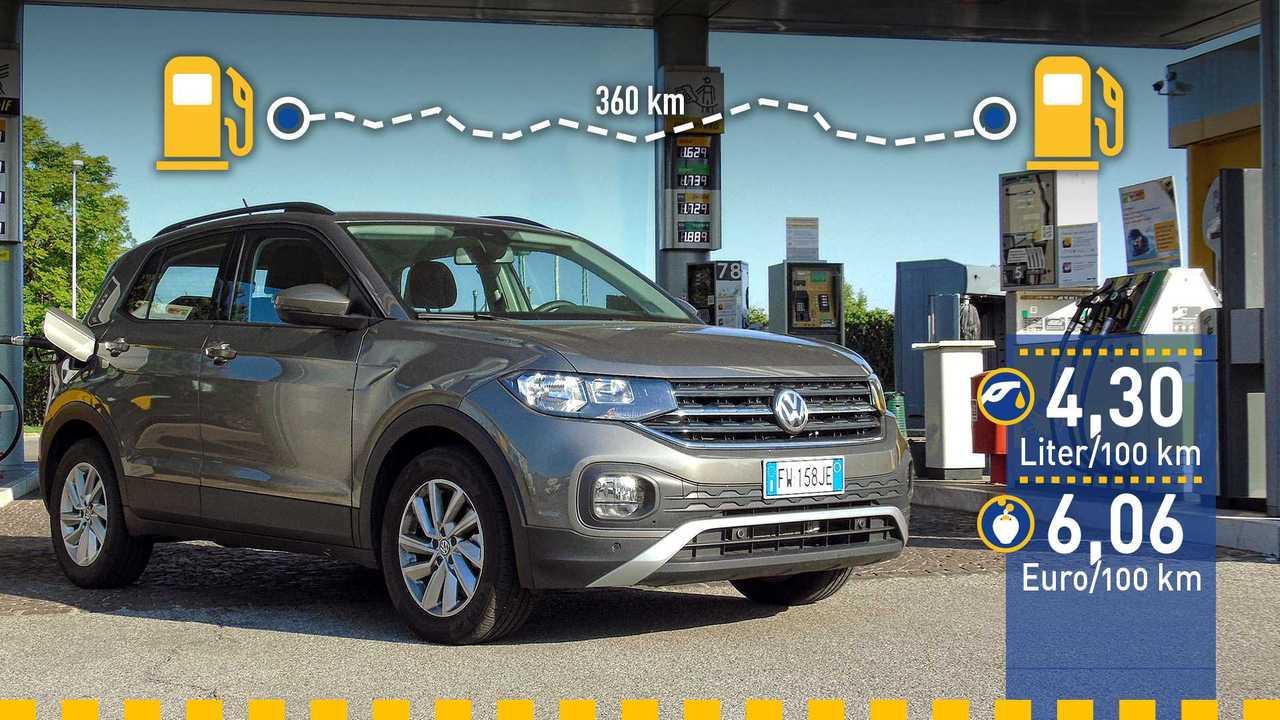 VW T-Cross (2019) im Verbrauchstest