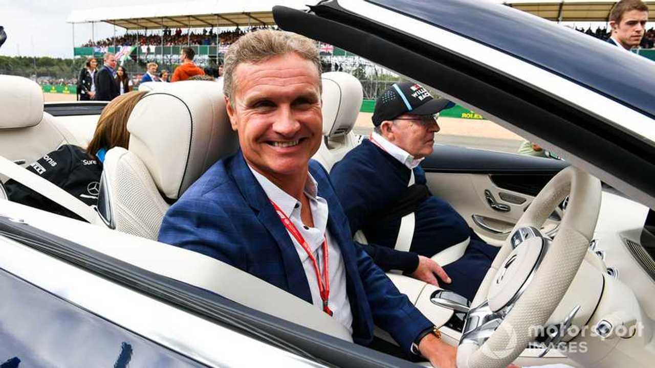 David Coulthard with Sir Frank Williams at British GP 2019