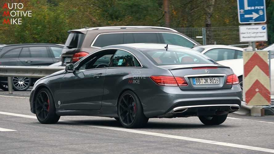 Mercedes-AMG Testing New V8 With Previous-Gen E-Class Coupe?