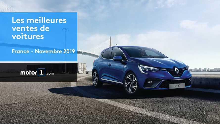 VIDÉO - Les voitures les plus vendues en France en novembre 2019
