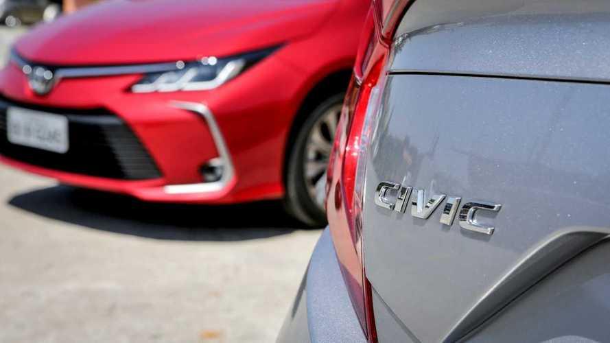 Sedãs mais vendidos em 2020: No 1º ano cheio do novo Corolla, Civic reduz vantagem